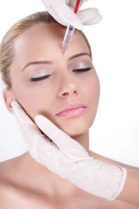 cosmetic treatment with botox injection